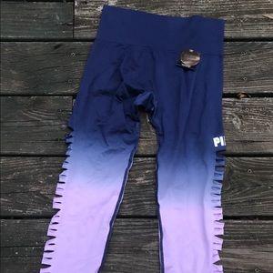 Vs pink cut out leggings